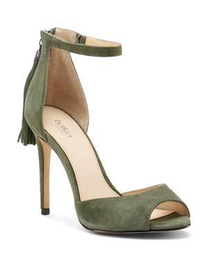 Women'S Anna Suede Ankle Strap High-Heel Sandals, Winter Green Suede