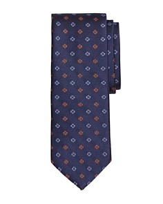 Brooks Brothers - Two-Tone Floral Silk Classic Tie