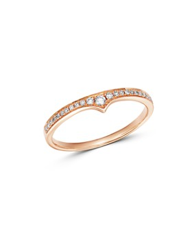 Bloomingdale's - Diamond Stacking Band in 14K Rose Gold, 0.10 ct. t.w. - 100% Exclusive