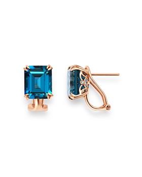 Bloomingdale's - London Blue Topaz & Diamond Drop Earrings in 14K Rose Gold - 100% Exclusive