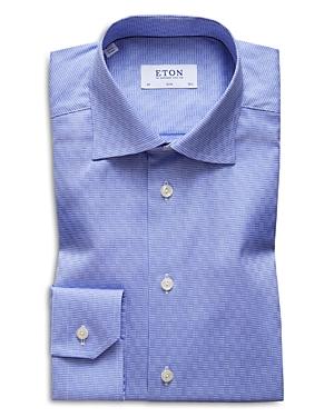 Eton Houndstooth-Check Slim Fit Dress Shirt
