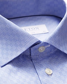 Eton - Houndstooth-Check Slim Fit Dress Shirt
