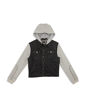 Hudson Boys Emerson Knit Denim Jacket  Little Kid
