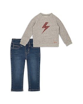 Hudson - Boys' Lightning Bolt Sweatshirt & Jeans Set - Little Kid