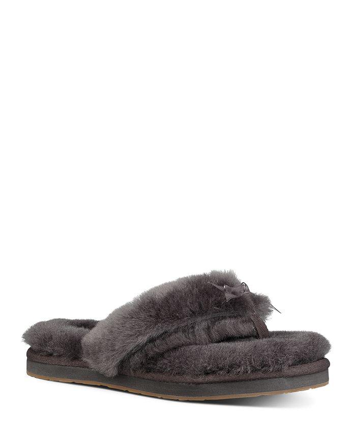 UGG® - Women's Fluff Sheepskin Flip-Flops