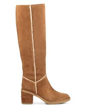 UGG® - Women's Kasen Round Toe Suede & Sheepskin Tall Boots