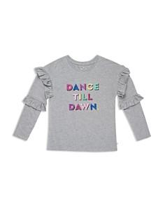 kate spade new york - Girls' Glitter Dance Till Dawn Graphic Top - Big Kid