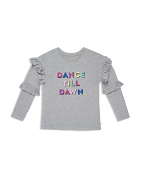 kate spade new york - Girls' Glitter Dance Till Dawn Graphic Top - Big Kid