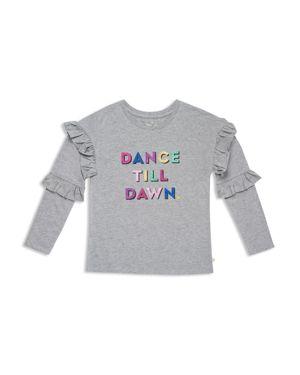 kate spade new york Girls' Glitter Dance Till Dawn Graphic Top - Big Kid