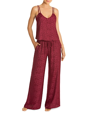 In Bloom by Jonquil Leaf Jacquard Satin Cami & Pants Set