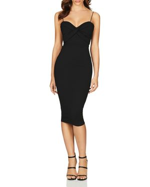NOOKIE Camille Midi Dress in Black