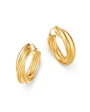 Bloomingdale's Twist Hoop Earrings in 14K Yellow Gold - 100% Exclusive