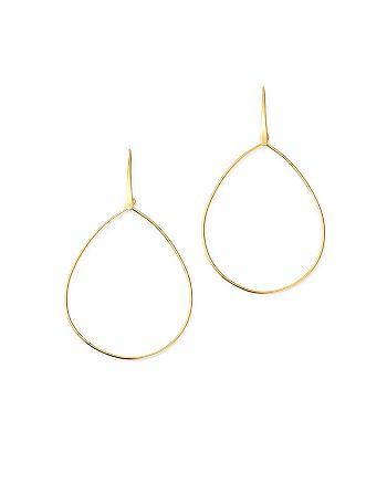 Moon & Meadow - Pear Shape Drop Earrings in 14K Yellow Gold