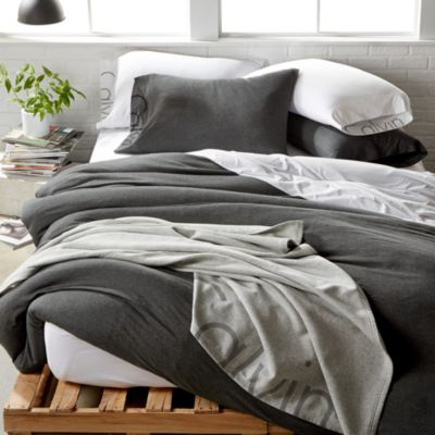 Modern Cotton Jersey Body Solid Duvet Cover, King