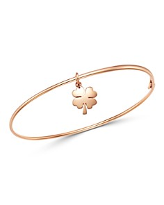 Dodo - Four-Leaf Clover Charm Bangle Bracelet