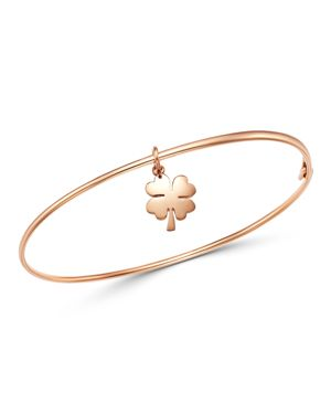Dodo Four-Leaf Clover Charm Bangle Bracelet