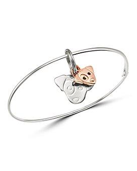 Dodo - Sterling Silver Jack Russell Charm Bangle Bracelet
