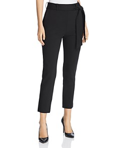 Three Dots - Belted Ponte Cropped Pants