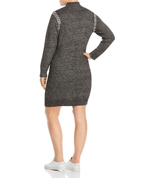 One A Plus - Whipstitched Sweater Dress