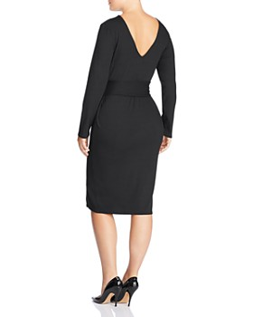 Lost Ink Plus - Ribbed Tie-Waist Dress