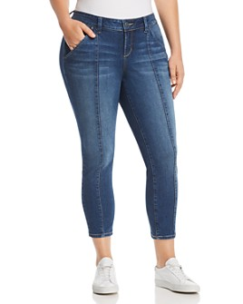 SLINK Jeans Plus - Seamed Ankle Jeans in Francis