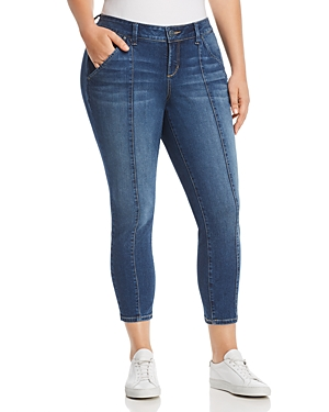 Slink Jeans Plus Seamed Cropped Jeans in Francis