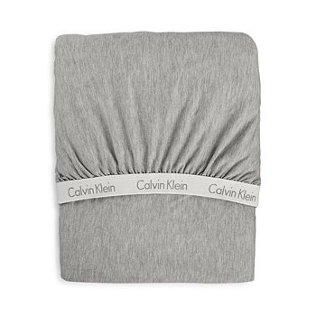 Calvin Klein - Modern Cotton Jersey Body Solid Fitted Sheet, Full