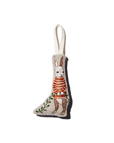 Coral & Tusk - Bunny Embroidered Ornament