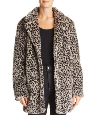 Aqua Leopard Print Faux Fur Jacket - 100% Exclusive