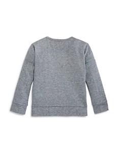 Design History - Girls' Smiley Flip Sequin Sweatshirt - Little Kid