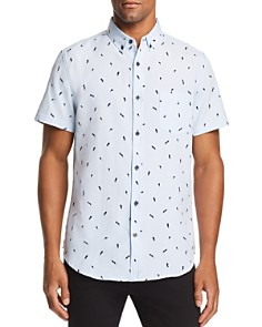 Sovereign Code - Crystal Cove Printed Regular Fit Button-Down Shirt