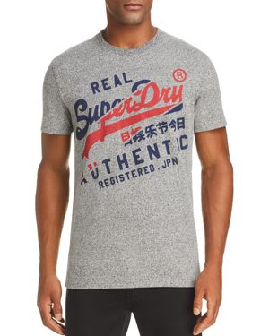 SUPERDRY Vintage Authentic Graphic Tee in Phoenix Grey Grit