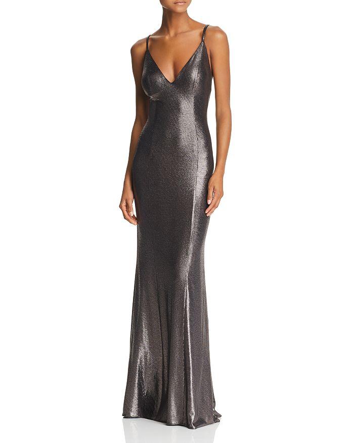 Aidan by Aidan Mattox - Metallic Knit Mermaid Dress
