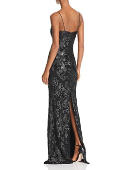 Avery G - Sequined Column Gown