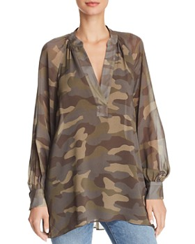 Joie - Rinah Camo Tunic Top