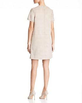 Elie Tahari - Bridgett Faux-Suede Shift Dress