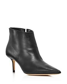 Jimmy Choo - Women's Marinda 65 Mid-Heel Leather Booties