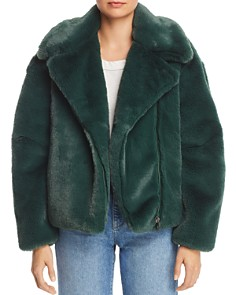 Heurueh - Faux Fur Moto Jacket - 100% Exclusive