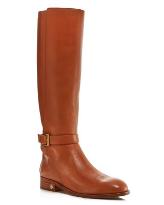 Women's Brooke Round Toe Leather Riding Boots by Tory Burch