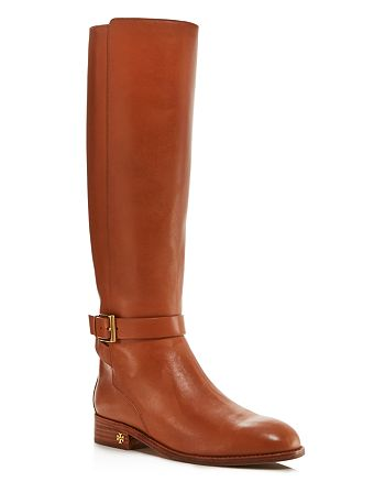 47ae49b94 Tory Burch Women s Brooke Round Toe Leather Riding Boots ...