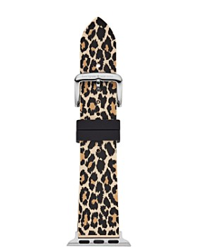 kate spade new york - Apple Watch® Leopard Print Rubber Strap, 38mm