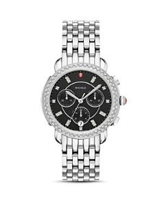 MICHELE - Sidney Black Mother-of-Pearl & Diamond Chronograph Watch Head, 38mm