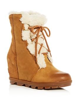 Sorel - Women's Joan of Arctic Wedge II Waterproof Shearling Hidden Wedge Boots