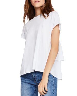 BCBGeneration Tiered Ruffle-Back Tee
