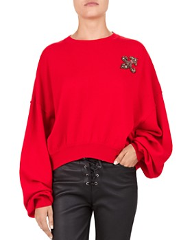 The Kooples - Embellished Fleur-de-Lis Sweater