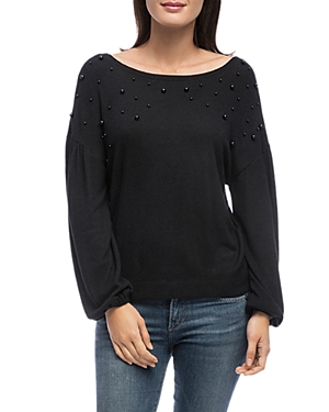 B COLLECTION BY BOBEAU B COLLECTION BY BOBEAU SCARLET EMBELLISHED SWEATSHIRT