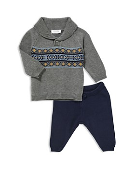 Angel Dear - Boys' Shawl-Collar Sweater & Knit Pants - Baby