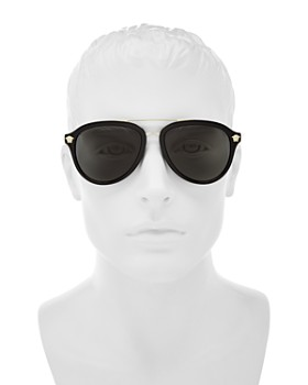 Versace Collection - Men's Brow Bar Aviator Sunglasses, 58mm
