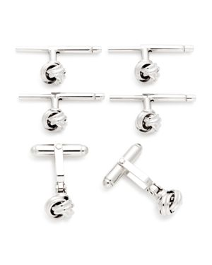 The Men's Store at Bloomingdale's Sterling Silver Knot Shirt Stud & Cufflinks Set - 100% Exclusive