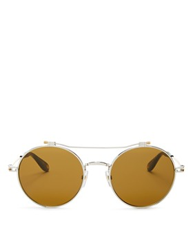 Givenchy - Men's Brow Bar Round Sunglasses, 53mm